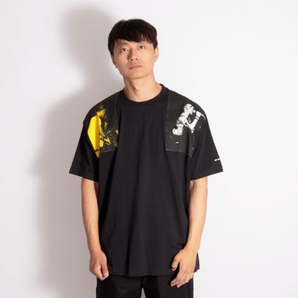 Fred Perry x Raf Simons Printed Panel T-Shirt Black
