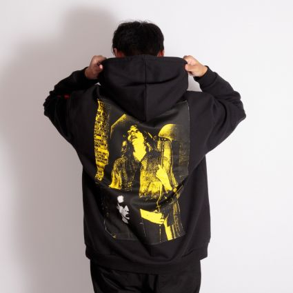Fred Perry x Raf Simons Printed Patch Hoodie Black
