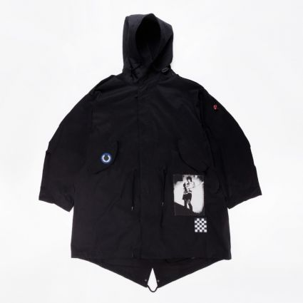 Fred Perry x Raf Simons Unlined Parka Black1