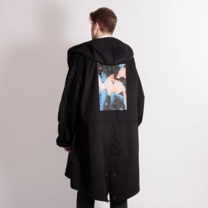 Fred Perry x Raf Simons Unlined Parka Black