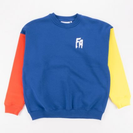 Fucking Awesome FA Primary Crewneck Sweatshirt Red/Navy/Yellow1