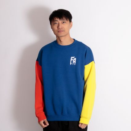 Fucking Awesome FA Primary Crewneck Sweatshirt Red/Navy/Yellow