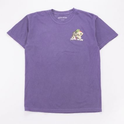 FUCKING AWESOME Frogman Tee Pigment Dyed Grape1