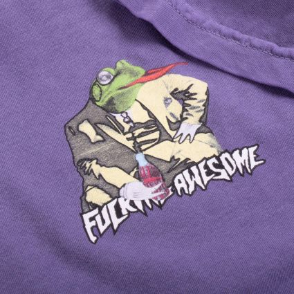 Fucking Awesome Frogman T-Shirt Pigment Dyed Grape