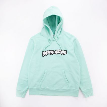 FUCKING AWESOME Garment Dyed Chenille Logo Hoodie Seafoam 1