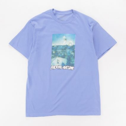 Fucking Awesome Helicopter T-Shirt Violet1