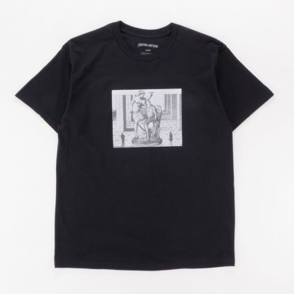 Fucking Awesome Perspective Statue T-Shirt Black1