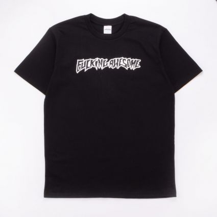 FUCKING AWESOME Puff Outline Logo Tee BLACK 1
