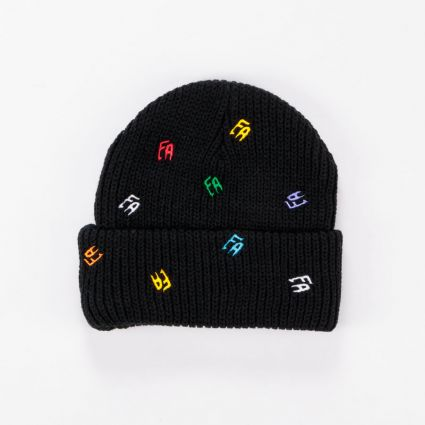 Fucking Awesome Scattered FA Cuff Beanie Black1