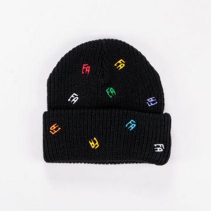 Fucking Awesome Scattered FA Cuff Beanie Black
