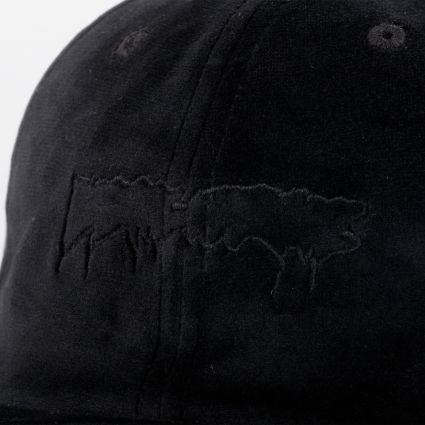 Fucking Awesome Stamp Unstructured Strapback Cap Black
