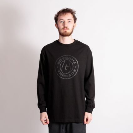 G Threadz Logo Long Sleeve T-Shirt Black