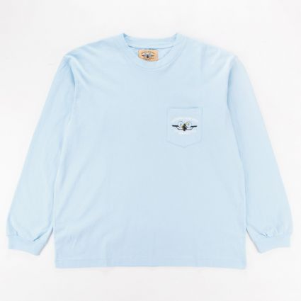 General Admission x Santa Monica Airlines Aloha Plane Long Sleeve T-Shirt Washed Blue1