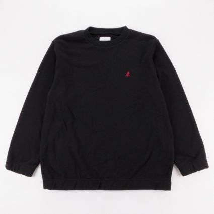 Gramicci Fleece Crew Neck Sweatshirt Black1
