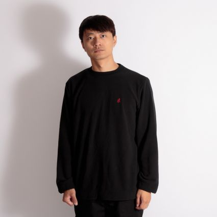 Gramicci Fleece Crew Neck Sweatshirt Black