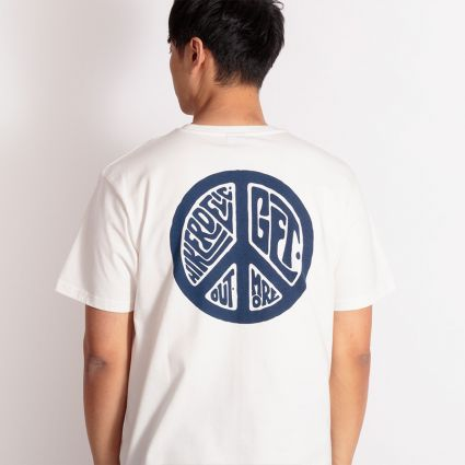 Hikerdelic Peace T-Shirt Off White