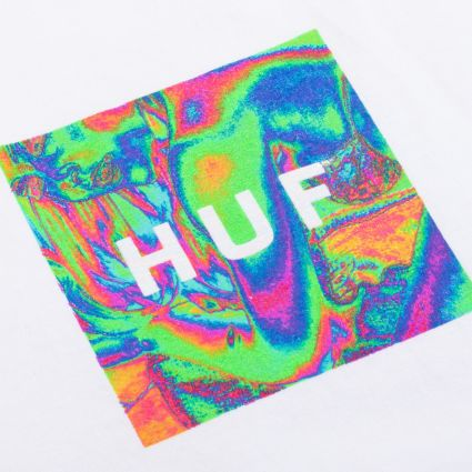 HUF Acid House Box Logo S/S T-Shirt White