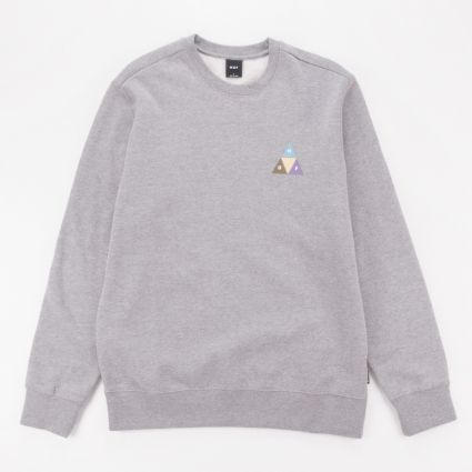 HUF Prism Trail Crewneck Sweatshirt Grey Heather1