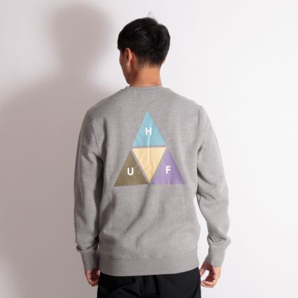 HUF Prism Trail Crewneck Sweatshirt Grey Heather