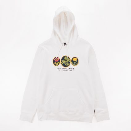 HUF Wild Flowers 2 Pullover Hoodie Unbleached1