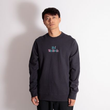 HUF Woz Crewneck Sweatshirt French Navy