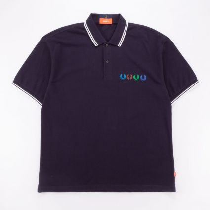 Fred Perry x Beams Twin Tipped Polo Shirt Indigo Night