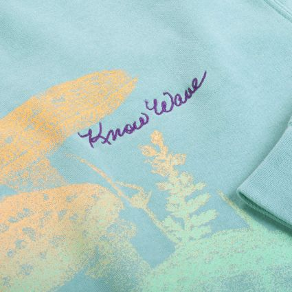 Know Wave Crewneck Sweatshirt Pistachio
