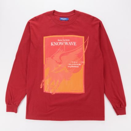 Know Wave Warrior Poet Society LS Tee Red