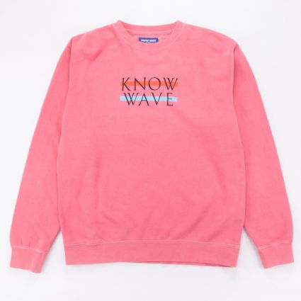 Know Wave Wavelength Crewneck Rose1