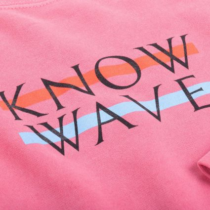 Know Wave Wavelength Crewneck Sweatshirt Rose