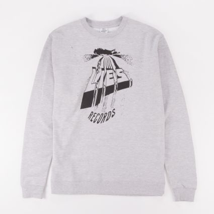 L.I.E.S. Warped Logo Crewneck Sweatshirt Grey