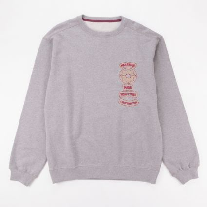 Maharishi World Tribe Organic Crew Sweat Grey Marl1