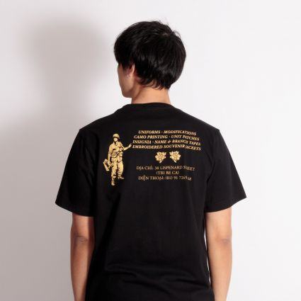 Maharishi 9406 Gold Tailor T-Shirt Black