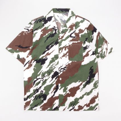 Maharishi Camo Camp Collar Shirt White Forest