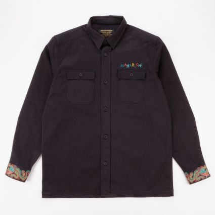 Maharishi Liberty Dragon Military Shirt Black1