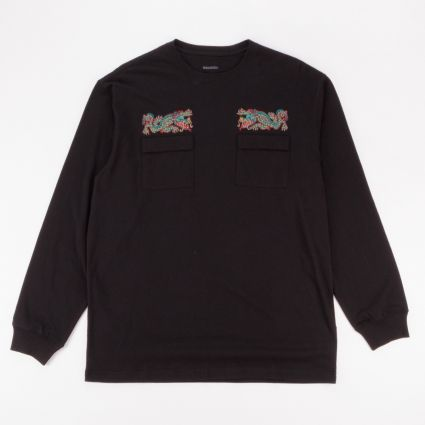 Maharishi Liberty Dragon Organic Long Sleeve T-Shirt Black1