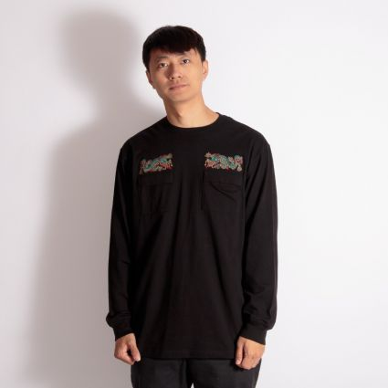 Maharishi Liberty Dragon Organic Long Sleeve T-Shirt Black