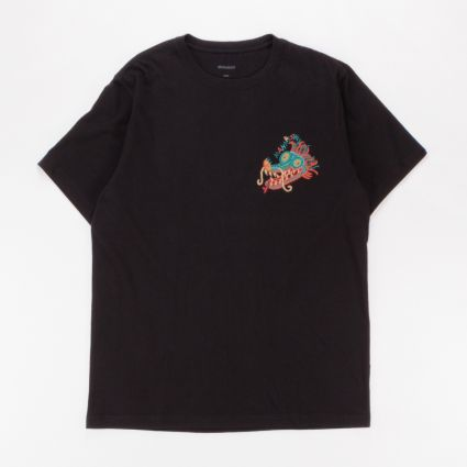 Maharishi Liberty Dragon Organic T-Shirt Black1