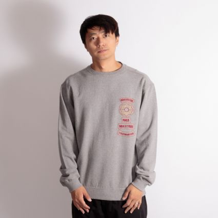 Maharishi World Tribe Organic Crew Sweatshirt Grey Marl