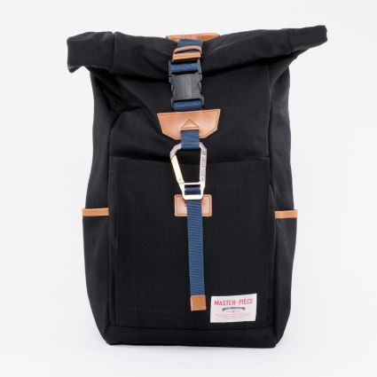 Master-Piece Link Roll Top Backpack Black