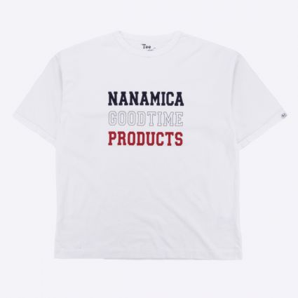 Nanamica nanamican Graphic Tee White1