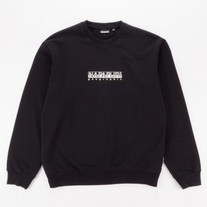 Napapijri Box Crewneck Sweatshirt Black1