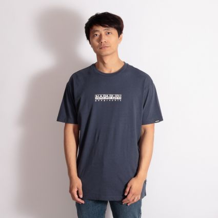 Napapijri Box T-Shirt Blue Nights