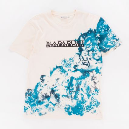 Napapijri Sylli Short Sleeve T-Shirt New Milk1