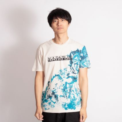 Napapijri Sylli Short Sleeve T-Shirt New Milk