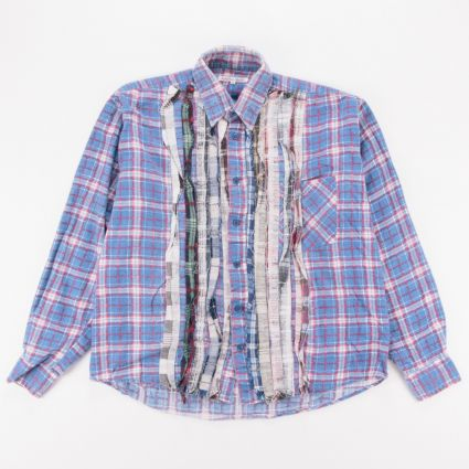 Needles Rebuild Flannel Ribbon Shirt (L3) Assorted1
