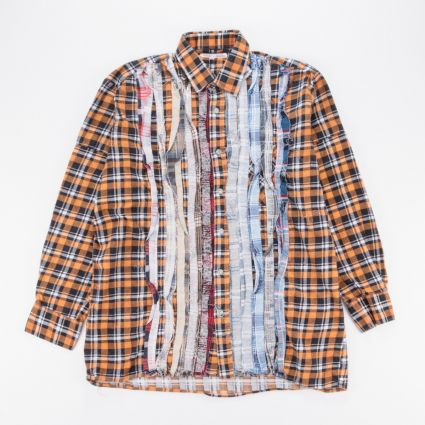 Needles Rebuild Flannel Ribbon Shirt (M) Assorted1