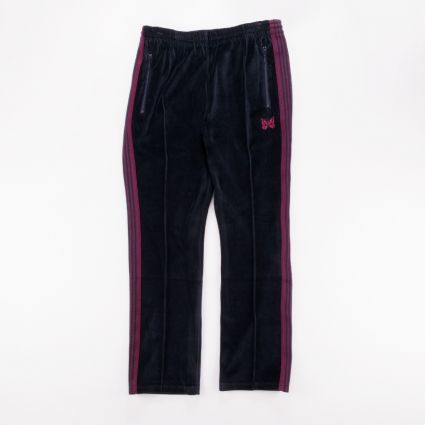 Needles Velour Narrow Track Pant Navy1