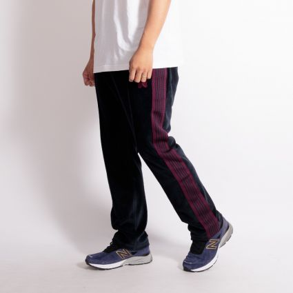 Needles Velour Narrow Track Pant Navy