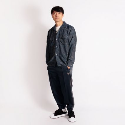 Needles Zipped Track Pant Poly Smooth Navy